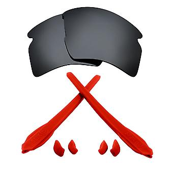 Náhradné šošovky & Kit pre Oakley Flak 2,0 XL Čierne Iridium & Red Anti-Scratch Anti-oslnenia UV400 od SeekOptics