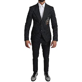 Black white stripes guitar patch 2 piece suit