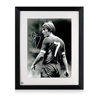 Kenny Dalglish Liverpool a signé photo: Le Début de King-apos;s. Encadré