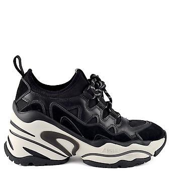 الرماد الأحذية الطيور إسفين الجلود المدربين الأسود