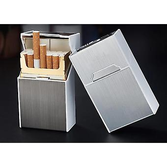 Cigarette Case Usb Charging Box Windproof Lighter For Smoking Metal
