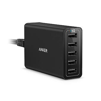 Anker usb charger powerport 5 (40w 5-port usb charging hub) multi-port wall charger for iphone 6s /