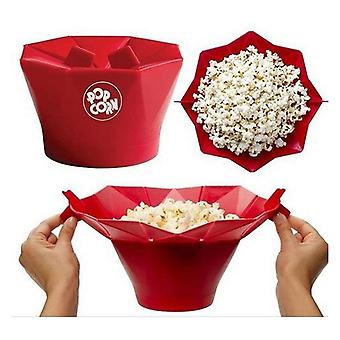 Popcorn Popper Homemade Delicious Bowl Baking Kitchen Bucket (red)