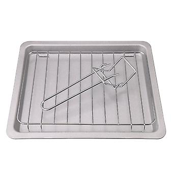 3pcs Silver Nonstick Flat Bottom Bakeware for Baking Cake Loaf