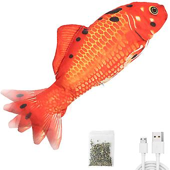 """12""""moving Cat Kicker Fish Toy, Realistic Flopping Fish, Fun Toy For Cat Exercise"""