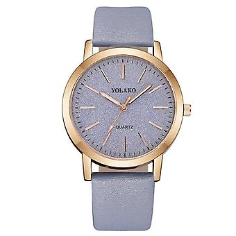 Luxury Brand, Leather Quartz, Women's Fashion Wristwatch Clock