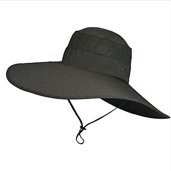 Summer Outdoor Waterproof With Large Brim Sun Hat/sunshade, Quick Drying Uv