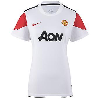 نايكي مانشستر يونايتد MUFC تدريب أعلى تي شيرت النساء الأبيض 382487 105 DD45
