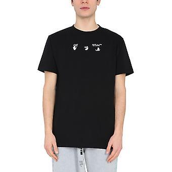 Off-white Omaa027r21jer0091055 Männer's schwarze Baumwolle T-shirt
