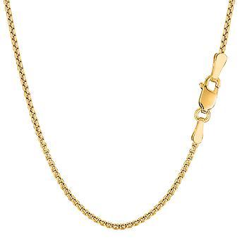 14 k Gelb Gold Round Box Kette Halskette, 1,4 mm