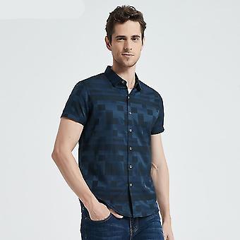 Casual Slim Fit Plaid Shirt