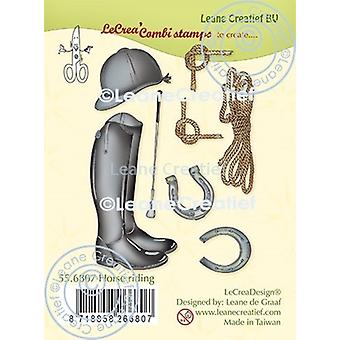 Leane Creatief Horse Riding Clear Stamps