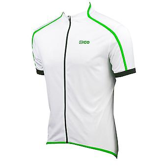 EIGO Classic Mens Short Sleeve Cycling Jersey White / Green