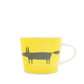 Scion Mr Fox Yellow and Charcoal Mini Mug