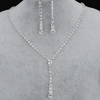 Bridesmaid, Bridal Jewelry Sets, Rhinestone, Crystal Necklace, Earrings Sets,