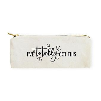 I've Totally Got This-cotton Canvas Pencil Case