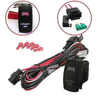Universal Led Work Light Bar, Laser Rocker Switch, Cablare Harnașament Kit