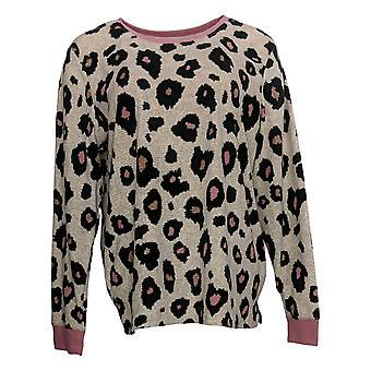 Cuddl Duds Women's Sweater Grid Fleece Relaxed Pink A381765