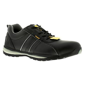 New Mens/Gents Black Tradesafe Leather Steel Toe Cap Safety Shoes. UK Size