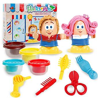 Colorful 3d Play Dough Hairdresser Model Set