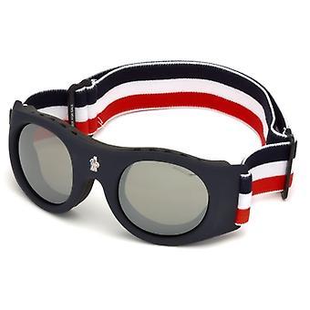 Moncler ML 0051 92C gafas de sol espejo azul/humo