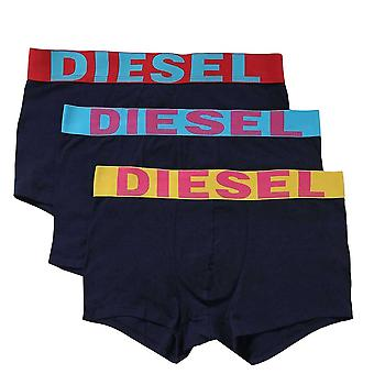 DIESEL 3-Pack Boxer Trunk UMBX-Shawn, Navy, Small