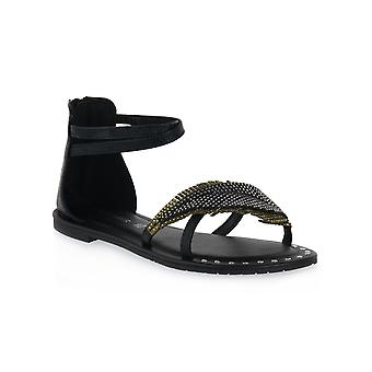 Sandalias de sandalias asimétricas Cafe noir n007