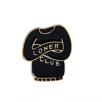 Introvert Loner Loser Club Enamel Pins Autism Badge