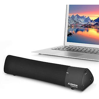 DZK Torpedo Plus Portable aptX Low Latency Bluetooth External Speaker for Laptop, MacBook, Desk
