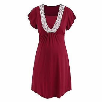 Maternity Robe Hospital Nightgown Pregnant Women Nursing Nightwear Pajama