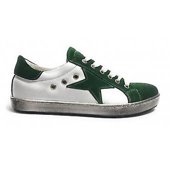Shoes Men's Tony Wild Sneaker White Leather/ Green Suede Vintage Star Us18tw27
