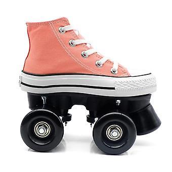 Kids Quad Roller Skates, Unisex Double Line Skates, Adult Kid Two Line Skating