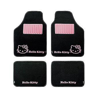 Auton lattiamattosarja Hello Kitty KIT3013 Universal Black Pink (4 kpl)