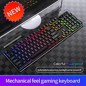 Gaming Keyboards For Computers Rgb Rainbow Backlit Keyboards V4