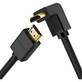 HanFei HDMI Kabel High Speed 270 Grad Winkelstecker HDMI Kabel mit Ethernet fr 1080p Full HD Ultra HD