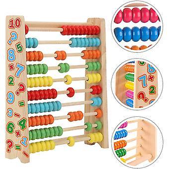 FengChun Rechenschieber Abakus Holzspielzeug Baby Montessori Spielzeug Mathematik mit 100 Holzperlen