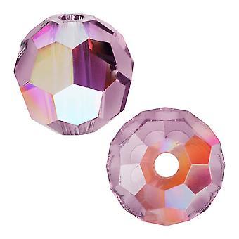 Кристалл Swarovski, круглые бусины #5000 4 мм, 12 штук, хрустальная сиреневая тень