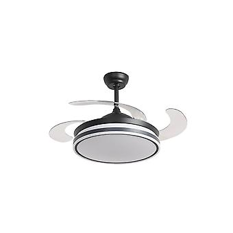 Retractable ceiling fan Ganuwa with LED and remote