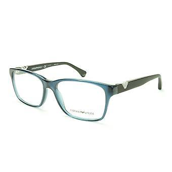 Emporio Armani EA3042 5072 Eyeglasses Frame Acetate Crystal Blue Black