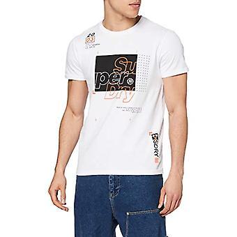 スーパードライクロマティックティーTシャツ、ホワイト(光学01c)、XLメンズ