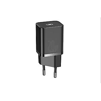 Black 20W USB Type C charger for iPhone 12 Pro Max PD fast charging USB travel wall type