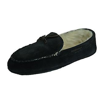 Cool Boys Tom Suede Moccasin Slippers - Navy