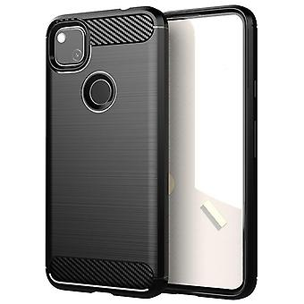 Tpu carbon fibre case for google pixel 4a black mfkj-137