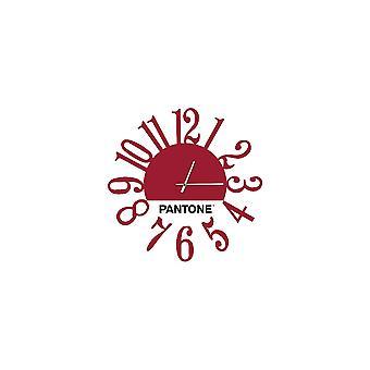 PANTONE Orologio Link Colore Bordeaux, Bianco, Nero, in Metallo L40xP0,15xA40 cm