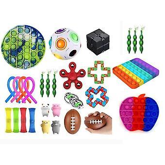 29pcs Fidget Pop it Toys Set pack til børn og voksne