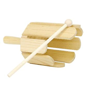 8-Tone træ lyd maker musikinstrument med pind