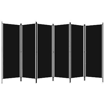 vidaXL 6 kpl. Huoneenjakaja Musta 300x180 cm