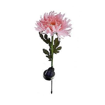 2 Pcs pink solar led chrysanthemum light, outdoor garden landscape lamp£¬led simulation flower lawn lamp az9294