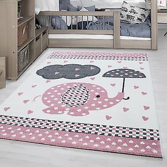 Alfombra para niños KID alfombra de la habitación de los niños patrón de nubes de elefante