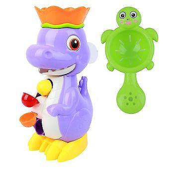22X12cm som vist dinosaur design baby bad legetøj baby rotation spray vand brusebad sprinkler legetøj scooping vand legetøj (rom farve) dt3485
